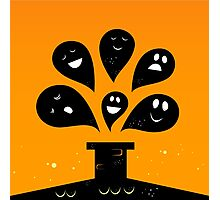Collection of vector stylized Ghost creatures Photographic Print
