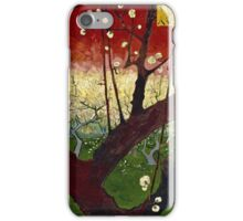 Vincent Van Gogh - Flowering Plum Orchard After Hiroshige, October 1887 - November 1887  iPhone Case/Skin