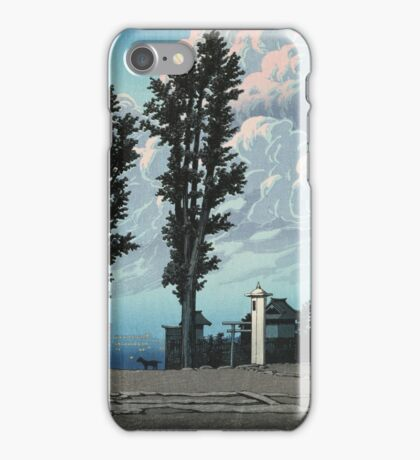 Kawase Hasui - Kanda Myojin Shrine After The Earthquake Fire iPhone Case/Skin