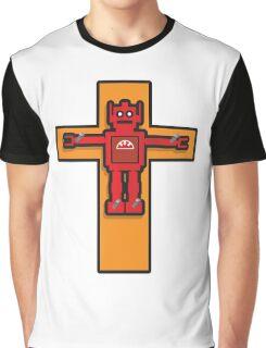 Robot Cruxifiction Graphic T-Shirt