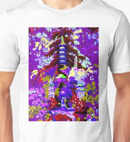 CHINA; Vintage Garden Art Scene Print Unisex T-Shirt