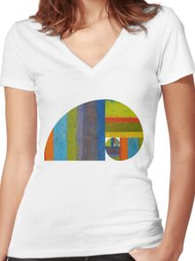 Golden Spiral Study Women's Fitted V-Neck T-Shirt