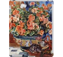 Renoir Auguste - Geraniums And Cats  iPad Case/Skin