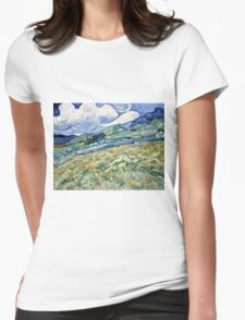 Vincent Van Gogh - Landscape From Saint Remy, 1889  Womens Fitted T-Shirt