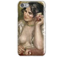 Renoir Auguste - Gabrielle With A Rose  iPhone Case/Skin