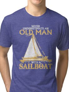 Old Man With A Sailboat Tri-blend T-Shirt