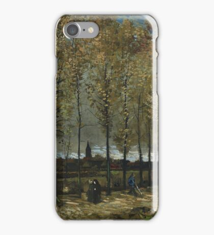 Vincent Van Gogh - Lane With Poplars, 1885 iPhone Case/Skin