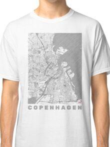 Copenhagen Map Line Classic T-Shirt
