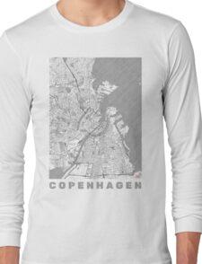 Copenhagen Map Line Long Sleeve T-Shirt