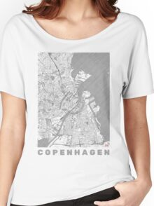 Copenhagen Map Line Women's Relaxed Fit T-Shirt
