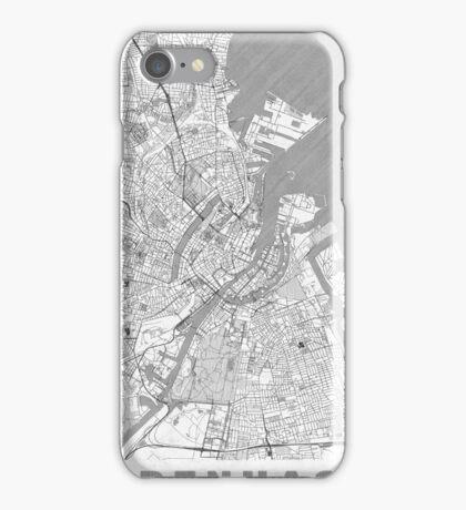 Copenhagen Map Line iPhone Case/Skin