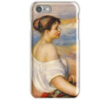 Renoir Auguste - Girl With A Basket Of Fish iPhone Case/Skin