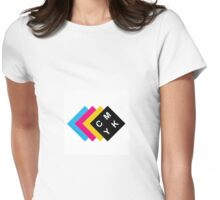 CMYK Womens Fitted T-Shirt
