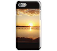Salt lake sunset iPhone Case/Skin