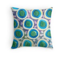 Four Directions Dot Pattern Throw Pillow