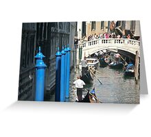 Busy Venice Canal Greeting Card