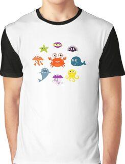 Underwater creatures and animals set Graphic T-Shirt