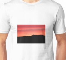 Sunset over the hills Unisex T-Shirt