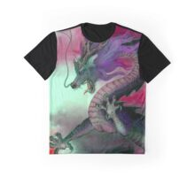 CHINESE DRAGON; Vintage Oriental Art Print Graphic T-Shirt