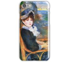 Renoir Auguste - By The Seashore 1883 iPhone Case/Skin