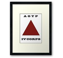 Army of the Potomac IV Corps Emblem Framed Print