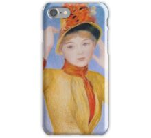 Renoir Auguste - Bust Of A Woman Yellow Dress iPhone Case/Skin