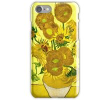 Vincent Van Gogh - Sunflowers, January 1889 - 1889  iPhone Case/Skin