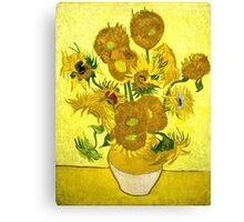Vincent Van Gogh - Sunflowers, January 1889 - 1889  Canvas Print