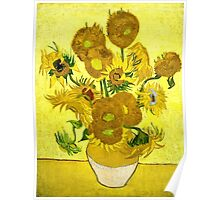Vincent Van Gogh - Sunflowers, January 1889 - 1889  Poster