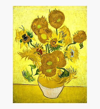 Vincent Van Gogh - Sunflowers, January 1889 - 1889  Photographic Print