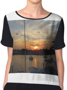 Sunset in Georgetown, SC Chiffon Top