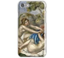 Renoir Auguste - Bathers Playing With A Crab  iPhone Case/Skin
