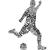 Soccer Football Languages Typography Photographic Print