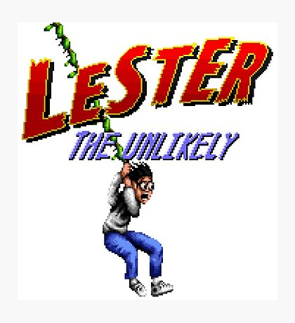 Lester the Unlikely - SNES Title Screen Photographic Print