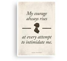 Jane Austen's Pride and Prejudice - Literary Quote, Book lovers gift, modern home decor. Canvas Print