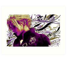 Cloud Strife Floral - Final Fantasy 7 Art Print