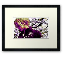 Cloud Strife Floral - Final Fantasy 7 Framed Print