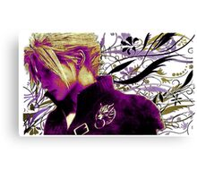 Cloud Strife Floral - Final Fantasy 7 Canvas Print