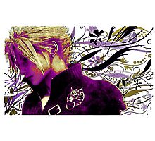 Cloud Strife Floral - Final Fantasy 7 Photographic Print