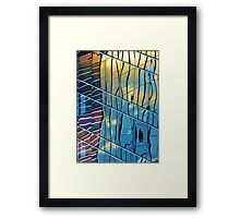 sunset skyscraper Framed Print