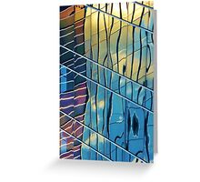 sunset skyscraper Greeting Card