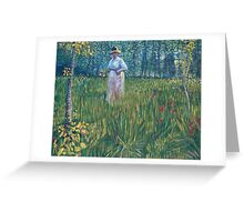 Vincent Van Gogh - Woman In  Garden, 1887 Greeting Card