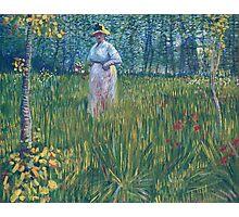 Vincent Van Gogh - Woman In  Garden, 1887 Photographic Print