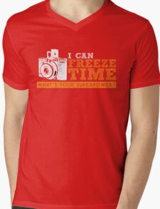 I can freeze time Mens V-Neck T-Shirt