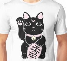 Lucky Cat Black Unisex T-Shirt