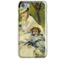Pierre Auguste Renoir - Madame Monet And Her Son iPhone Case/Skin