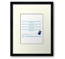 Doctor Who Theme Framed Print