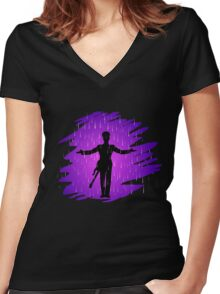 Purple Rain - Prince  Women's Fitted V-Neck T-Shirt