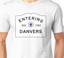 Entering Danvers - Commonwealth of Massachusetts Road Sign Unisex T-Shirt