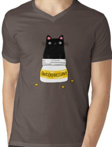 FUR ANTIDEPRESSANT Mens V-Neck T-Shirt